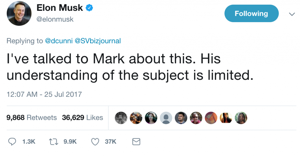 fb ai elon musk tweet mark